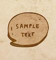 Speech Bubble Cartoon vector image vector image