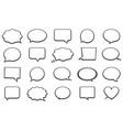 stickers of speech bubbles set vector image vector image