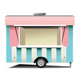 street fast food store on wheels vector image