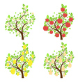 Stylized Fruit Trees2 vector image