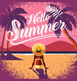summer layout template design holiday vector image vector image