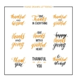 Thanksgiving text set vector image vector image
