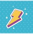 thunderbolt stars patch fashion badge sticker vector image
