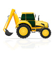 tractor 03 vector image vector image