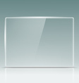 Transparent glass screen vector image vector image
