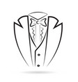 tuxedo man suit silhouette icon vector image vector image