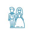 wedding ceremony linear icon concept wedding vector image vector image