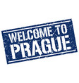 welcome to prague stamp vector image vector image
