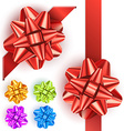 Gift bow set vector image