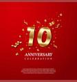 10th anniversary celebration golden number 10