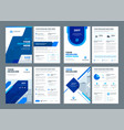 Abstract flat background blue brochures annual