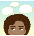 African American girl with speech bubbles vector image