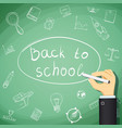 back to school human hand draw doodles vector image
