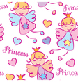 Background Princess vector image vector image