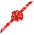 big corner bow of shiny ribbon vector image vector image