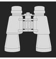 Binoculars icon Chalk vector image vector image