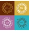 bohemian mandala and yoga background with round vector image
