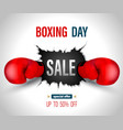 boxing day sale vector image vector image