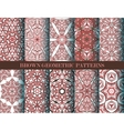 Brown geometric patterns collection vector image vector image