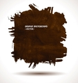 BROWN GRUNGE SHAPE vector image vector image