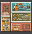 buddhism yin yang lotus buddha and dharma wheel vector image vector image