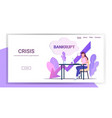 businesswoman using laptop at workplace bankrupt vector image vector image