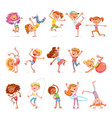 children sports fitness dancing breakdance vector image