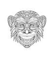 chimpanzee head entangle vector image