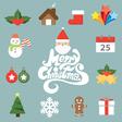 Christmas symbol icon vector image vector image