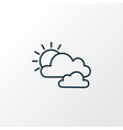 cloudy weather icon line symbol premium quality vector image vector image