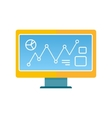 Computer in Flat Style Design vector image
