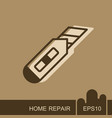 construction utility knife icon vector image