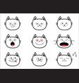 cute black contour cat set funny cartoon vector image vector image