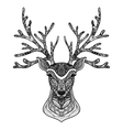 Decorative Deer Portrait vector image vector image