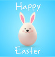 easter egg rabbit on a blue background vector image