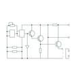 electric circuit scheme vector image