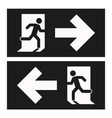 emergency exit left emergency exit right vector image vector image