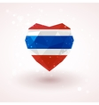 Flag of Thailand in shape diamond glass heart vector image