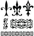 Fleur-de-lys symbols and ornamental patterns vector | Price: 1 Credit (USD $1)