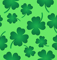 four leaf clover pattern on green vector image vector image