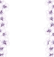 Frame template blooming sakura blue flowers vector image vector image