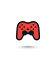 gamepad game controller icon on white vector image vector image