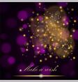 golden lights concept abstract on dark purple vector image vector image