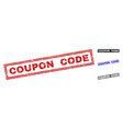 grunge coupon code textured rectangle watermarks vector image vector image