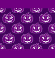 halloween pattern seamless with pumpkins festive vector image vector image