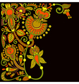 hand draw ornate floral pattern vector image vector image