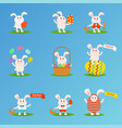 happy easter bunny et vector image