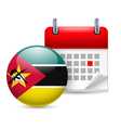 Icon of National Day in Mozambique vector image vector image