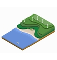 Isometric landscape vector image vector image