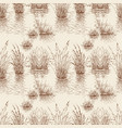 lake and cattail seamless pattern hand drawn vector image